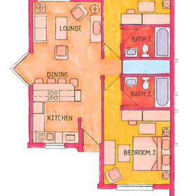 Sun City Vacation Club — - Unit Floor Plan