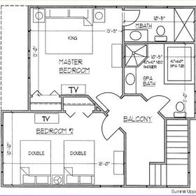 Ridge Top Village and Ridge Top Summit at Shawnee Resort — - Upstairs Floor Plan