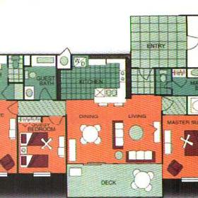 Royal Dunes Resort - Unit Floor Plan