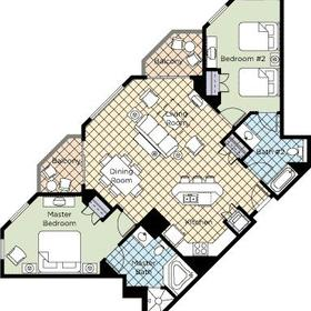 Wyndham Vacation Resorts at National Harbor — 2BR Presidential Floor Plan