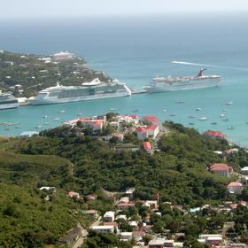 Bluebeard's Castle — Castle's Hilltop Location with pristine views of Charlotte Amalie Harbor