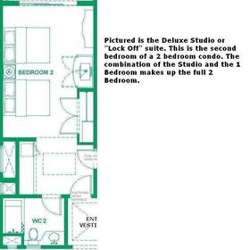 Junior suite/studio floorplan