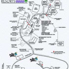 The Ridge Sierra - Ridge Resorts map