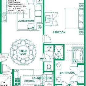 Villa del Arco Beach Resort & Spa — One-bedroom/Two-bathroom floorplan