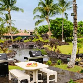 The Bay Club at Waikoloa Beach Barbecue Area