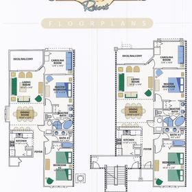 Coral Sands Resort — Sample unit floorplans