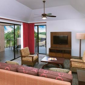 The Bay Club at Waikoloa Beach Living Area