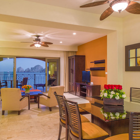 Casa Dorada at Medano Beach — Living and Dining Area