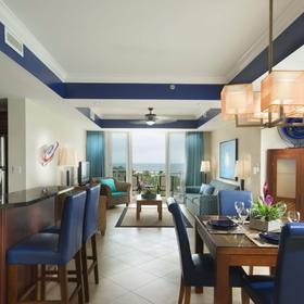 Beach Towers at Divi Phoenix Living and Dining Area