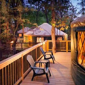 Bluegreen Shenandoah Crossing Yurt Deck
