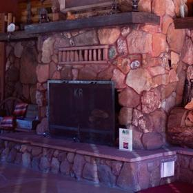 Kohl's Ranch Lodge Lobby Fireplace