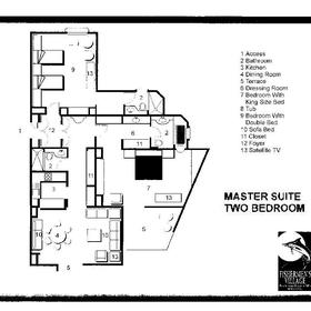 Sunset Fishermen Spa & Resort - Master Suite Floor Plan