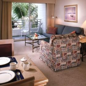 Riviera Shores Resort — Living and Dining Area