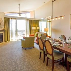 Grand Pacific Palisades Resort Living and Dining Area