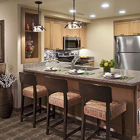 Mountain Villas at Welk Resorts — Breakfast Bar and Kitchen