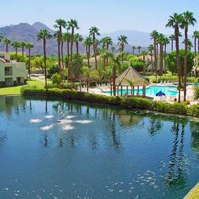 Desert Breezes Resort Lake and Grounds