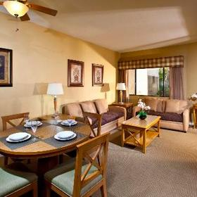 Desert Isle of Palm Springs Living and Dining Area