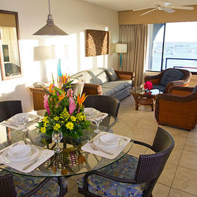 Royal Palm Beach Resort Living and Dining Area