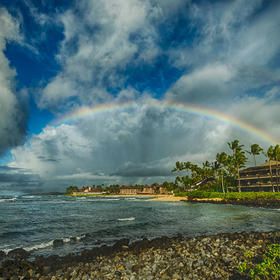 Rainbow over Poipu beach