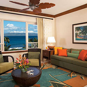 Marriott's Maui Ocean Club - Napili Villas Living Area