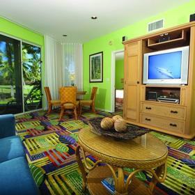 Holua Resort at Mauna Loa Village — Living Area