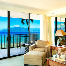 Kaanapali Shores — Living Area and Lanai