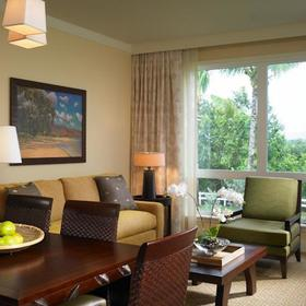 Westin Princeville Ocean Resort Villas Living and Dining Area