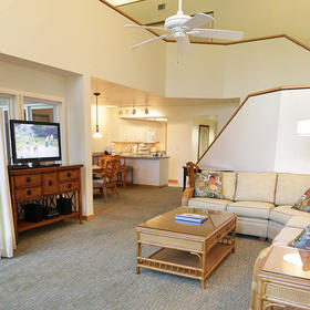 The Cottages at South Seas Island Resort Living Area