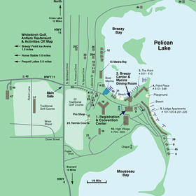 Breezy Point International - Resort Map