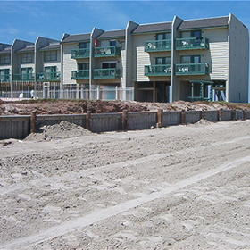 Peregrine Townhomes at San Luis Pass — - view from the beach