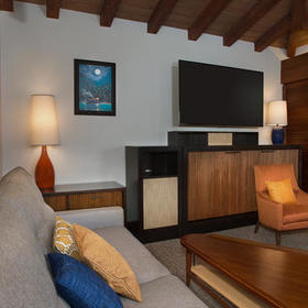 Disney's Polynesian Villas & Bungalows Bungalow Living Area