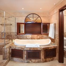 Crane Beach Resort — Sample unit master bathroom