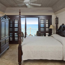 Crane Beach Resort — Sample unit master bedroom
