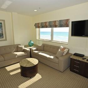Crystal Beach Suites Hotel Living Area