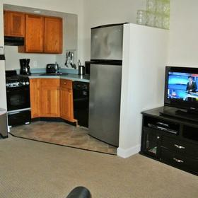 Coral Shores Resort — Living Area and Kitchenette