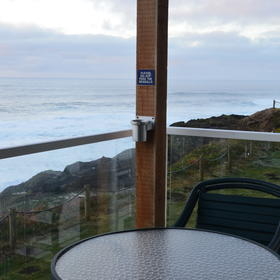 WorldMark Depoe Bay — Sample deck view
