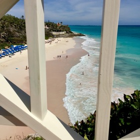 Crane Beach Resort — Sample balcony view