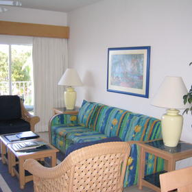 The Reef Resort - Unit Living Area