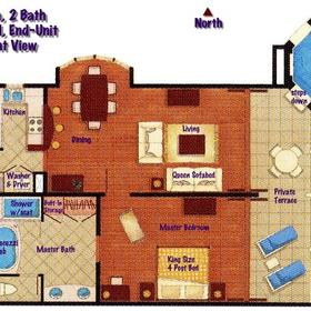 Crane Beach Resort — - Unit Floor Plan