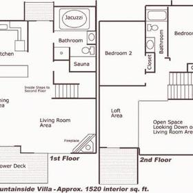 Massanutten's Mountainside Villas - floor plan