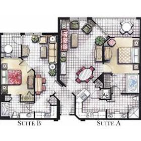 Vacation Village at Bonaventure - Unit Floor Plan