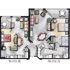 Vacation Village in the Berkshires - Unit Floor Plan