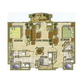 Tahiti — - Unit Floor Plan