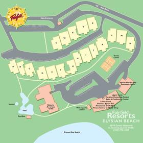 Elysian Beach Resort - Resort Map