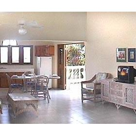 The Coconut Palms Resort — Living Room of the 2 Bedroom Unit