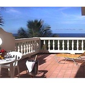 The Coconut Palms Resort — Patio of the 3 Bedroom Unit