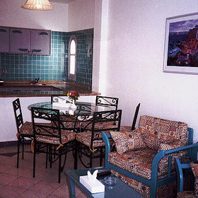 Dive Inn Resort — - Living/Dining/Kitchen of a unit