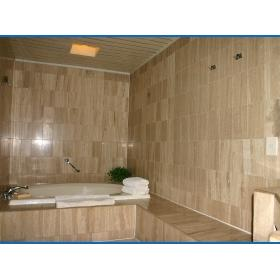 Casa del Mar Beach Resort — Unit master bathroom with large whirlpool tub and separate shower