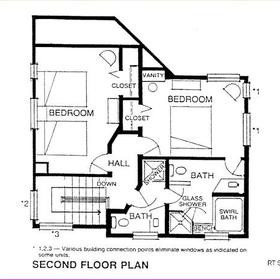 Ridge Top Village and Ridge Top Summit at Shawnee Resort — - 2nd Floor Plan