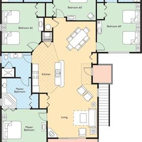 Wyndham at The Cottages - Penthouse Floor Plan